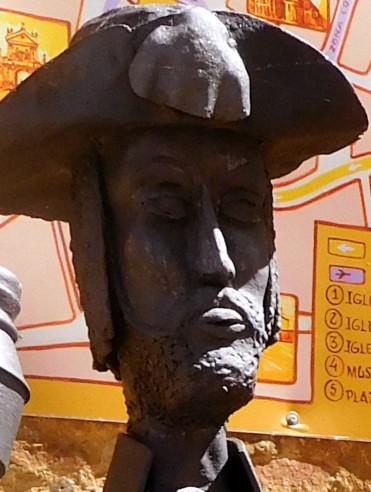 Cara de la estatua del peregrino